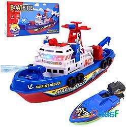 Giocattolo per il bagnetto giocattoli per vasca da bagno giocattolo per vasca nave da guerra nave plastica suono luci elettrico bagno estate per i più piccoli, regalo del bagnetto per bambini
