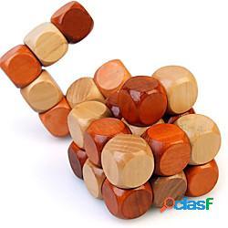 Puzzle rompicapo in legno 3d 1 pezzo cubo di serpente cubo di diamante puzzle ad incastro per adolescenti e adulti sfida il pensiero logico idea regalo e decorazione ideale lightinthebox