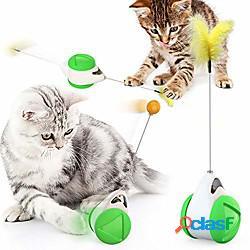 Cat chasing toy balance car design giocattoli interattivi per gatti auto non-batteria auto rotante giocattolo per gatti con gatto catnip bacchetta chaser divertente puzzle giocattolo per gatt