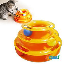 Interattivo giocattoli interattivi per gatti divertenti giocattoli per gatti giocattolo per gatti 1 piramide con pallina piatto plastica regalo giocattolo per animali domestici pet play light