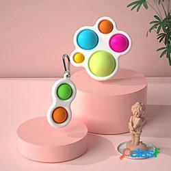 2 pezzi fidget semplice fossetta giocattolo grasso cervello giocattoli sollievo dallo stress mano giocattoli giocattolo educativo precoce per bambini lightinthebox