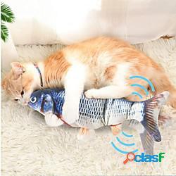 Giochi morbidi erba gatta peluche giochi con suono giocattolo interattivo pesce flopping pesciolino che ondeggia giocattolo di pesce kicker gatto in movimento giocattoli interattivi per gatti