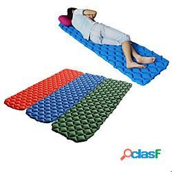 Tappetino da notte cuscino gonfiabile materassi ad aria esterno campeggio portatile leggero pad 3d ultra leggero (ul) tpu nylon per 1 persona scalate spiaggia campeggio / escursionismo / spel
