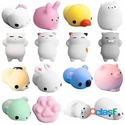 Morbidosi squishies giocattolo squishy giocattoli da spremere 5 pcs mini con animale sollievo dallo stress e dall'ansia kawaii mochi per per bambini per adulto ragazzi e ragazze regalo bombon