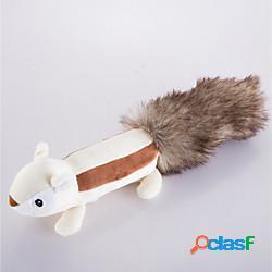 Peluche giochi con suono giocattoli interattivi per gatti divertenti giocattoli per gatti cane cagnolino carino squittiscono scoiattolo pelliccia finta regalo giocattolo per animali domestici