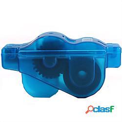 Spazzola per pulizia catena bici/attrezzo attrezzo a spazzola per pulizia portatile duraturo lavaggio facile utensile rotante per pulizia spazzole rotanti a 360° per bici da strada mountain b