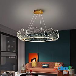 Led lampada a sospensione cerchio design 68/85 cm lanterna desgin lampadario metallo finiture verniciate led 110-120v 220-240v lightinthebox