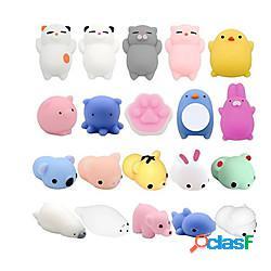 Morbidosi squishies giocattolo squishy giocattoli da spremere 28 pcs serie animali mini sollievo dallo stress e dall'ansia glitterato mochi per per bambini per adulto ragazzi e ragazze regalo