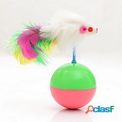 Topo giocattolo mouse e giocattoli animali giocattoli interattivi per gatti divertenti giocattoli per gatti gatto altalena mouse plastica regalo giocattolo per animali domestici pet play ligh