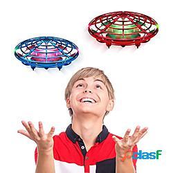 Trottola volante giocattolo volante droni azionati a mano velivolo elicottero astronave ricaricabile sistema anticollisione con sensore infrarossi involucro in plastica per bambini adulto rag