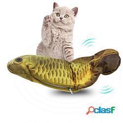 Set di giocattoli per gatti pesce flopping pesciolino che ondeggia giocattolo di pesce kicker gatto in movimento giocattoli interattivi per gatti roditori prodotti per gatti gattino 1 pc prod