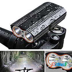 Led luci bici luce frontale per bici fanale anteriore bicicletta ciclismo impermeabile portatile rilascio rapido 2000 lm ricaricabile usb campeggio / escursionismo / speleologia ciclismo ligh