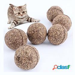 Pet cat catnip naturale trattare palla divertente gioco catch teaser masticare chat jouet lightinthebox