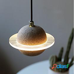 Lampada da comodino a led lampada da comodino design pianeta 18 cm lanterna desgin decorazione domestica 110-120 v 220-240 v lightinthebox