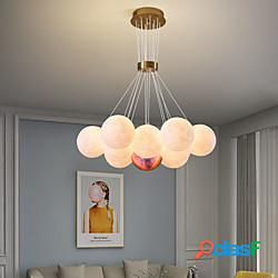 Led lampada a sospensione globo design 60 cm moderno romantico metallo galvanizzato led 110-120 v 220-240 v lightinthebox