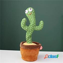 Giocattolo di peluche cactus giocattolo elettronico da ballo con scuotimento con la canzone simpatico cactus da ballo giocattolo educativo per la prima infanzia per bambini miniinthebox