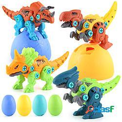 Smontare dinosauro giocattoli per ragazzi costruire set di giocattoli con trapano elettrico ingegneria di costruzione kit da gioco staminali apprendimento per bambini ragazze età 3 4 5 anni m