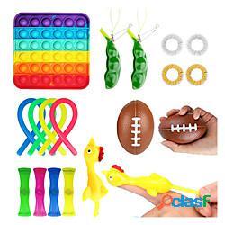 19 pz giocattolo fidget giocattolo sensoriale autismo squishy antistress giocattolo adulto bambino divertente anti-stress push pop bubble giocattolo per bambini miniinthebox