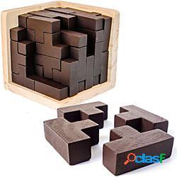 Puzzle rompicapo in legno 3d con pezzi a forma di t del costruttore di abilità geniali della zona del cervello. giocattolo educativo per bambini e adulti puzzle da scrivania regalo (originale