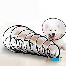 Prodotti per cani prodotti per gatti cono dell'animale domestico collare per il recupero dell'animale domestico cono di cane elizabeth cerchio regolabile traspirante allevia lo stress guarigi