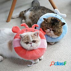 Prodotti per cani prodotti per gatti cono dell'animale domestico collare per il recupero dell'animale domestico elizabeth cerchio regolabile allevia lo stress sicurezza guarigione delle ferit