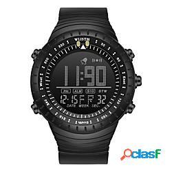 Wlisth per uomo orologio digitale analogico digitale sportivo faccia grande resistente all'acqua cronografo luminoso / un anno / silicone miniinthebox
