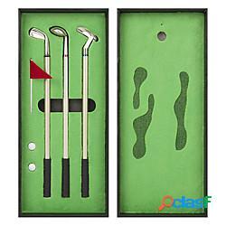 Set di penne da golf mini penna a sfera da golf da tavolo regalo da golf superiore con putting green 3 penne da golf con palline e bandiera miniinthebox
