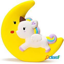 Jumbo moon unicorno spremere il giocattolo crema profumata a cavallo lento giocattoli per i bambini favori di partito di unicorno giocattoli di compressione di sollievo dallo stress animale c