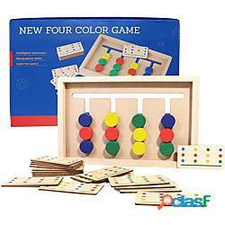 Giocattoli per l'apprendimento prescolare educazione montessori giocattoli di smistamento dei colori puzzle scorrevoli in legno rompicapo di abbinamento scorrevole gioco logico regalo per i b