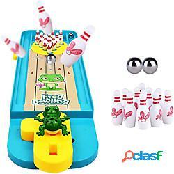 Set da mini bowling giocattolo da bowling da interno classico giocattolo da tavolo con palla da tavolo gioco da bowling da tavolo per bambiniamp;amp; amp; adulti miniinthebox