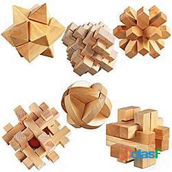 Cubo di legno 3d puzzle rompicapo rompicapo, iq rompicapo creativo scrivania da ufficio giocattoli allevia add, adhd, ansia, autismo motivo geometrico adulti in legno bambino tutti i giocatto