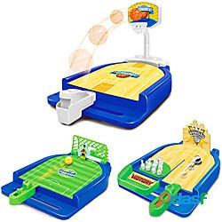 Set di giochi sportivi (3 in 1) mini gioco di basket da tavolo da tavolo gioco di bowling gioco di calciogiocattoli sportivi da tavolo divertenti adatti per i partiti di viaggio. miniinthebox