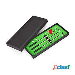 Set di penne da golf set regalo con penna a sfera da golf mini desktop con putting greenflag3 penne per mazze da golfamp;amp; amp; 2 palline miniinthebox