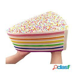 Squishy gigante giocattoli jumbo torta arcobaleno squishy lento aumento squishy con sprinkles arcobaleno raccolta regalo antistress miniinthebox