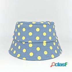 1 pz Bambino / Bambino (1-4 anni) Unisex Dolce Compleanno / Casuale / Da tutti i giorni A pois Alla moda Cotone Cappelli e berretti Blu S miniinthebox