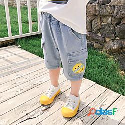 1 pezzo Bambino Da ragazzo Pantaloncini Jeans Pop art Con stampe Attivo Essenziale Blu 3-12 anni miniinthebox