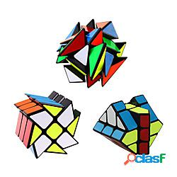 Set di cubi di velocità qiyi 3 pack pacchetto di cubo di velocità magico 3x3x3 cubo del mulino a vento yj cubo yongjun asse v2 cubo yj fisher 3x3 giocattolo di puzzle cubo di velocità robusto