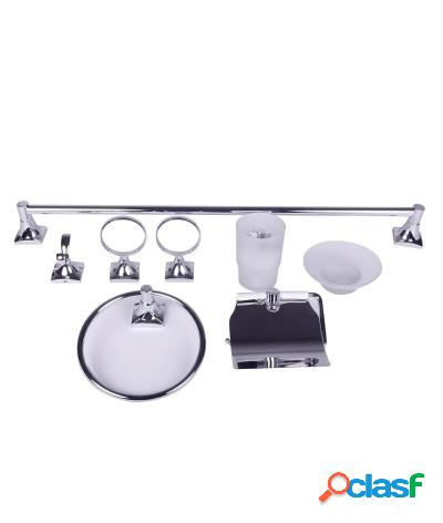 Kit accessori bagno 6 pezzi square cromo