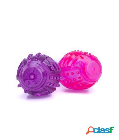 Giocattolo sonoro per cani per l'igiene orale 11 cm viola