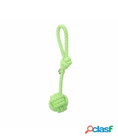 Giocattolo tira e molla per cani resistente 28 cm verde