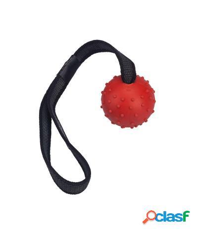 Giocattolo tira e molla per cani con palla in gomma resistente 5 cm