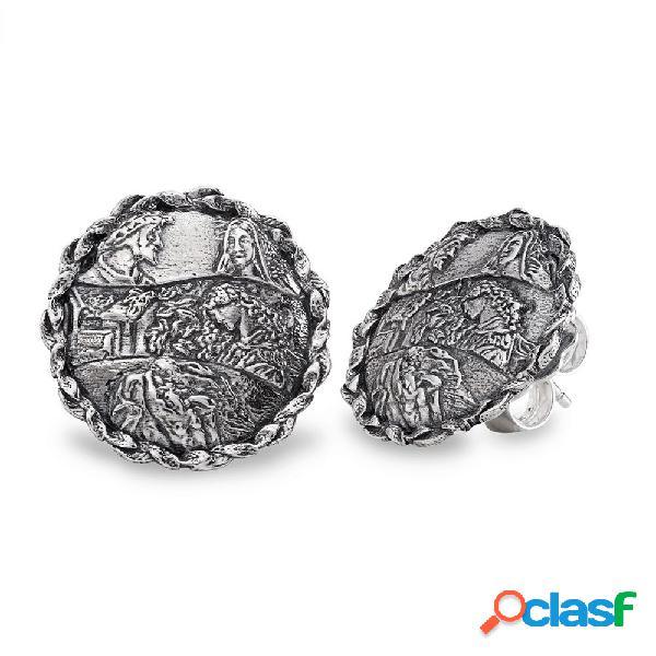 Orecchini gerardo sacco in argento   divina commedia - stil novo - 28013
