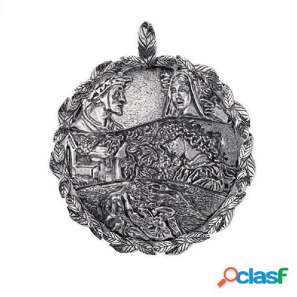 Ciondolo gerardo sacco in argento   divina commedia - stil novo - 28011