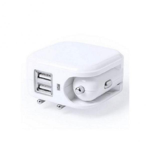 Caricabatterie usb da parete o da auto 2100 mah 145578