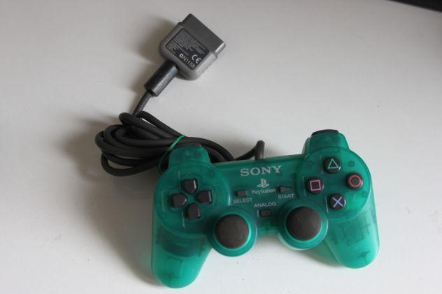 Scph 1200 sony playstation ps1 trasparente controller verde