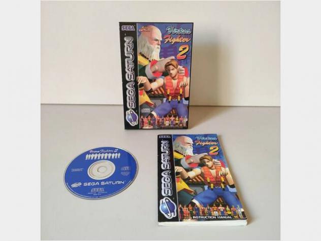 Virtual fighter 2-sega saturn (in scatola con manu usato