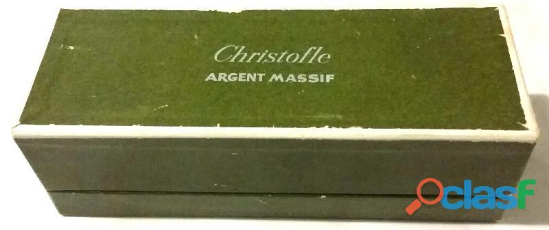 """Set di Salini in vetro""""CHRISTOFLE Argent Massif"""" in argento sterling 925% con scatola 2"""