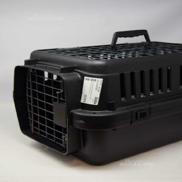 Trasportino per animali nero anione 30x40x30 cm