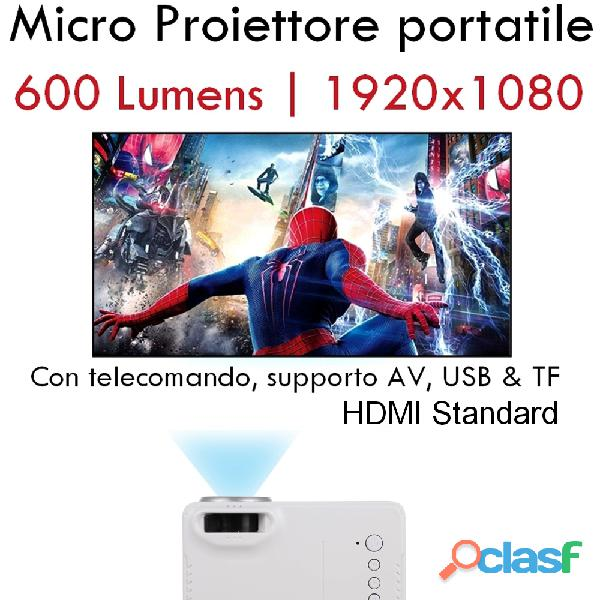 Micro Proiettore portatile LED per karaoke e feste