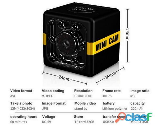 Telecamera portatile spia piccolissima da occultamento 1